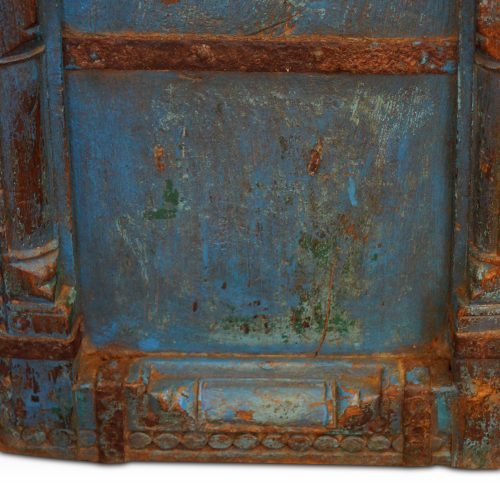 Indian carved teak doors with original paint moulding