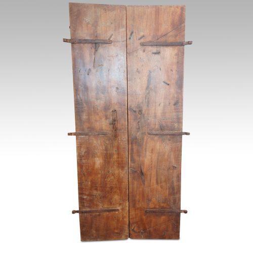 Indian carved teak doors with original paint rear