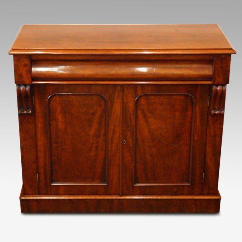 Victorian mahogany waterfall drawer chiffonier