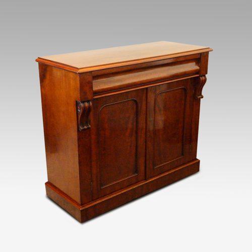 Victorian mahogany waterfall drawer chiffonier angle
