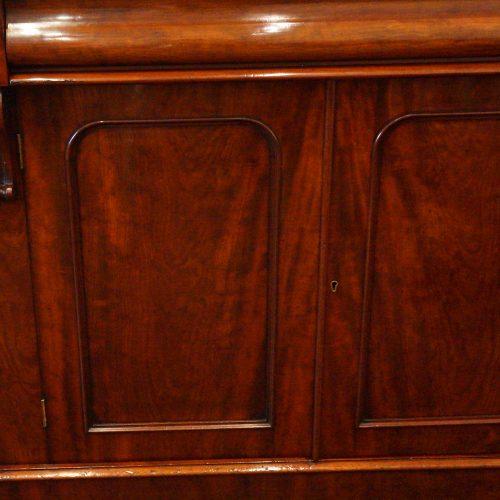 Victorian mahogany waterfall drawer chiffonier panel doors