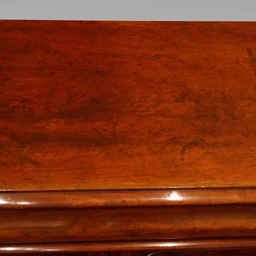 Victorian mahogany waterfall drawer chiffonier top wear