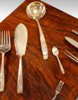 Walnut 12 sitting canteen of cutlery