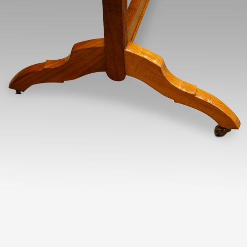 1930s walnut cheval dressing mirror legs