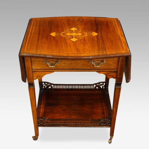 Edwardian inlaid rosewood dropflap table