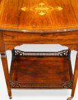 Edwardian inlaid rosewood dropflap table rear