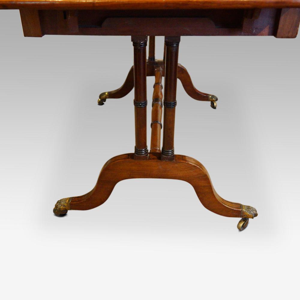 Regency mahogany sofa table hingstons antiques dealers watchthetrailerfo