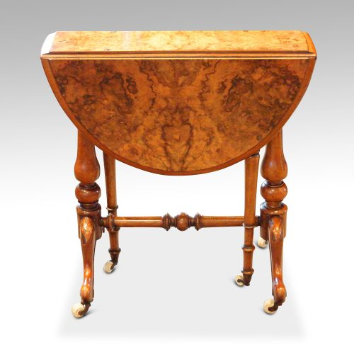 Victorian burr walnut baby Sutherland table