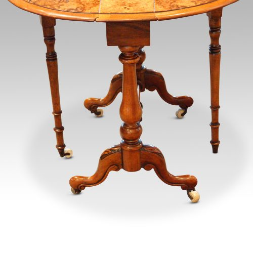 Victorian burr walnut baby Sutherland table base