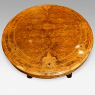 Victorian oval inlaid walnut coffee table top