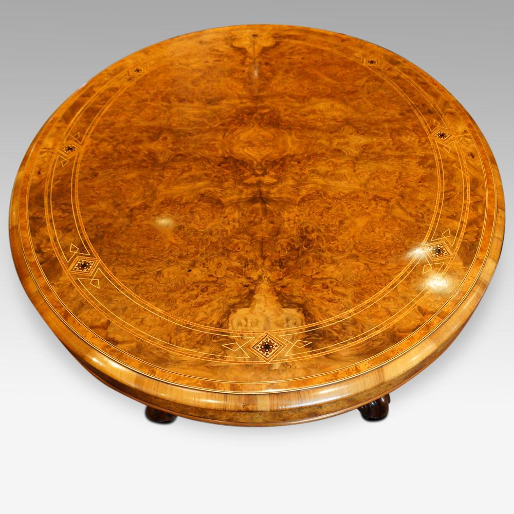 Walnut Oval Coffee Table Uk: Victorian Inlaid Burr Walnut Coffee Table