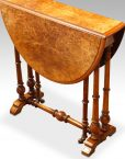 Victorian walnut small Sutherland table side