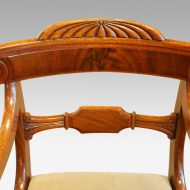 William IV mahogany scroll arm desk chair toprail