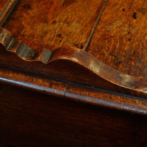 Antique oak cottage dresser cornice shoe