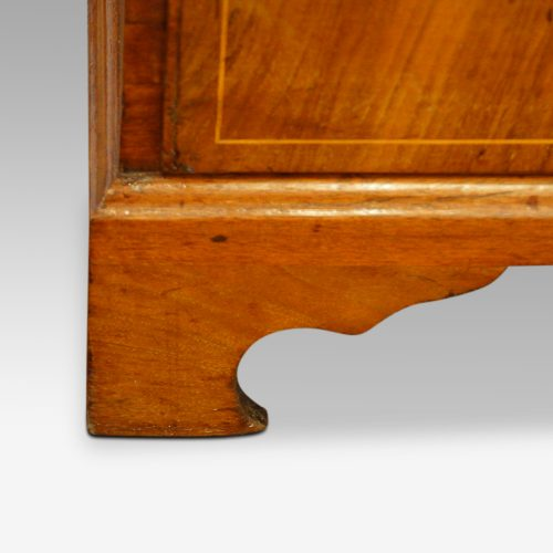 Georgian walnut bureau bracket foot