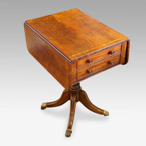 Regency mahogany work table