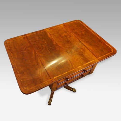 Regency mahogany work table flaps up