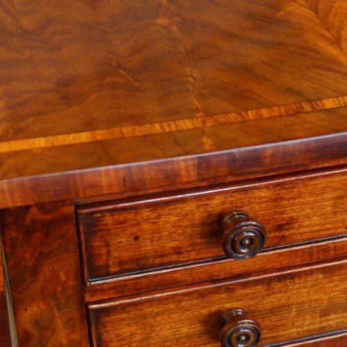 Regency mahogany work table knobs