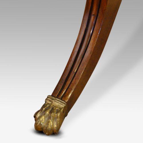 Regency mahogany work table leg