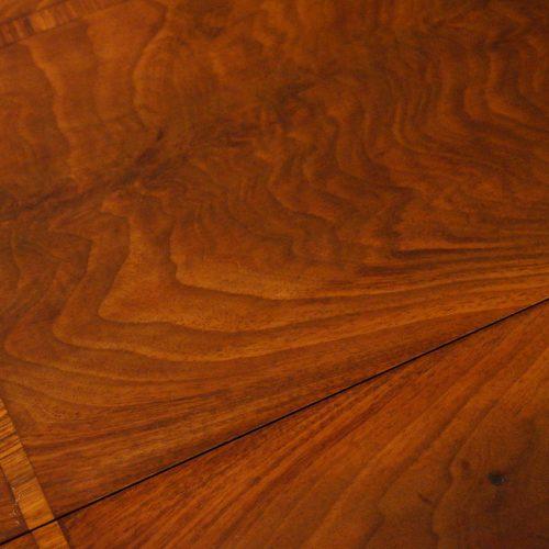 Regency mahogany work table top detail