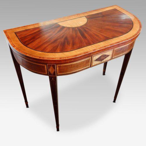 Sheraton inlaid mahogany card table