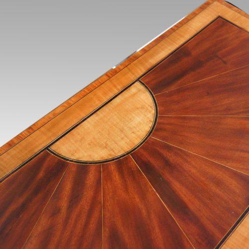 Sheraton inlaid mahogany card table central inlay