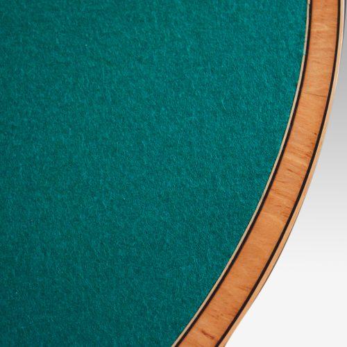 Sheraton inlaid mahogany card table edge