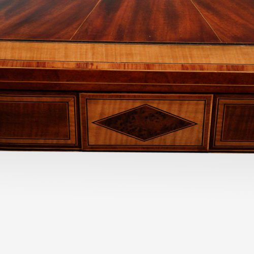 Sheraton inlaid mahogany card table table