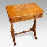 Victorian burr walnut side table