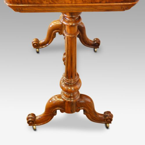 Victorian burr walnut side table ends