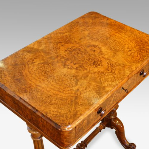 Victorian burr walnut side table top