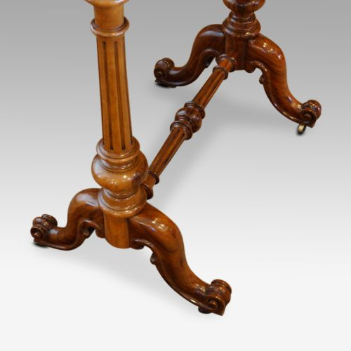 Victorian burr walnut side tableend supports