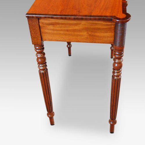 William IV mahogany side table end
