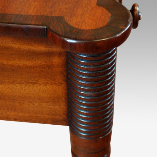 William IV mahogany side table side