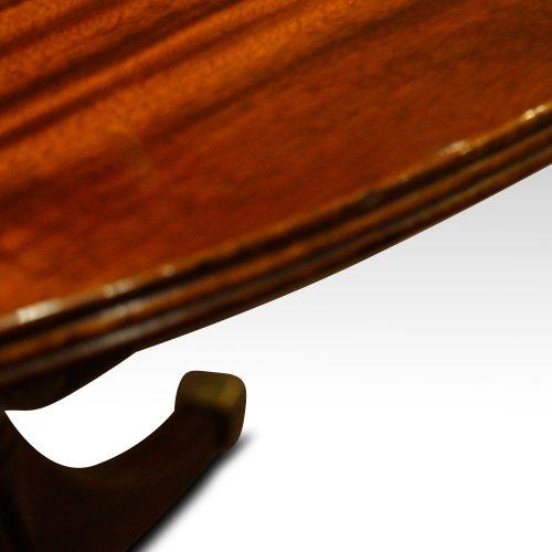 12 plus seat Regency style mahogany 3 pillar dining table edge