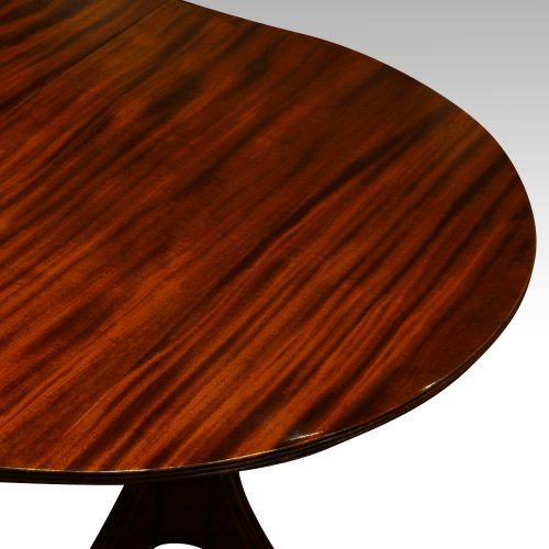 12 plus seat Regency style mahogany 3 pillar dining table end