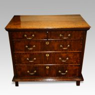18thc. walnut on oak chest of drawers