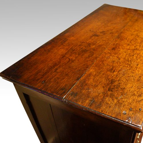 18thc. walnut on oak chest of drawers top