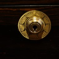 Antique coromandel writing slope Bramah lock