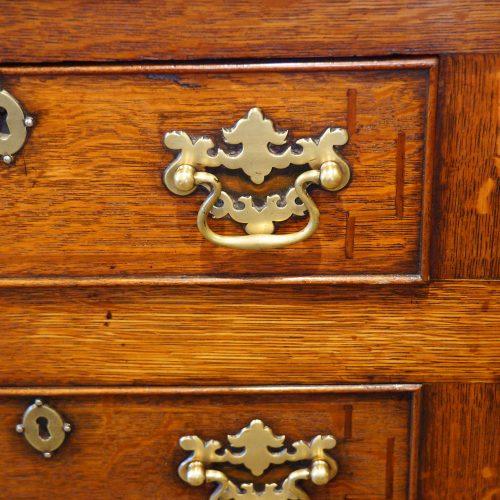 Antique oak Anglesey dresser base brass handle