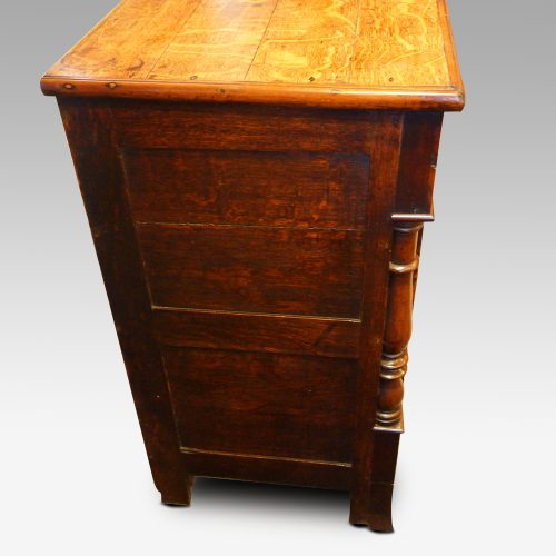 Antique oak Anglesey dresser base end view
