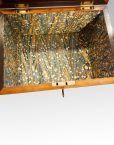 George III mahoangy inlaid casket marbled paper