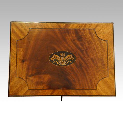 George III mahoangy inlaid casket top
