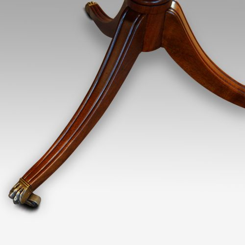 Regency style mahogany twin pillar dining table leg