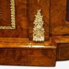 Victorian inlaid walnut credenza base mount