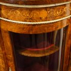 Victorian inlaid walnut credenza bow glass