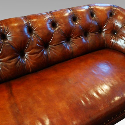 Victorian leather chesterfield button back
