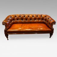Victorian leather chesterfield