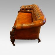 Victorian leather chesterfield side