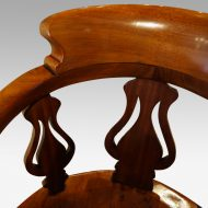 Victorian mahogany desk chair top rail